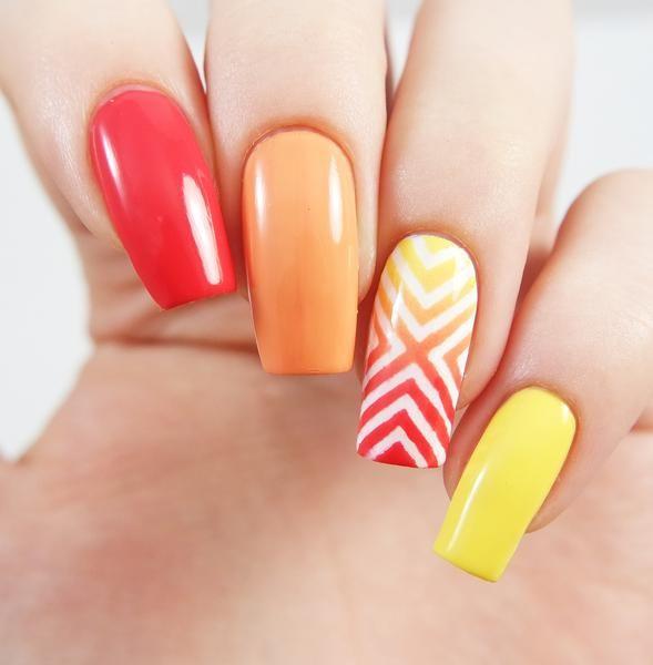 Right Angle Nail Stencils | Nail stencils, Pattern nails and Nail ...