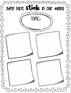 reading nonfiction using sticky notes (freebie included)