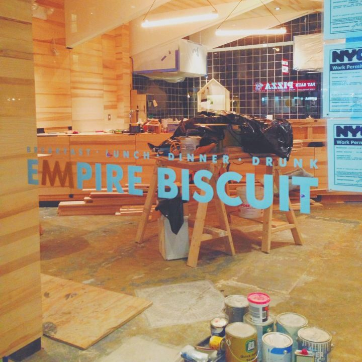 Empire Biscuit in New York, NY-check! Sausage Gravy biscuit was just a little spicy and delicious.