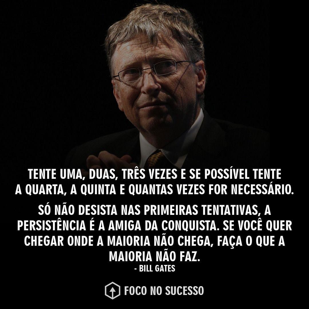 Palavras do grande Bill Gates! 💪 Siga: @foconosuccess Lembrou de um amigo?  Marque ele aqu… | Motivação para vida, Frases para motivação de estudo,  Frases de mentor
