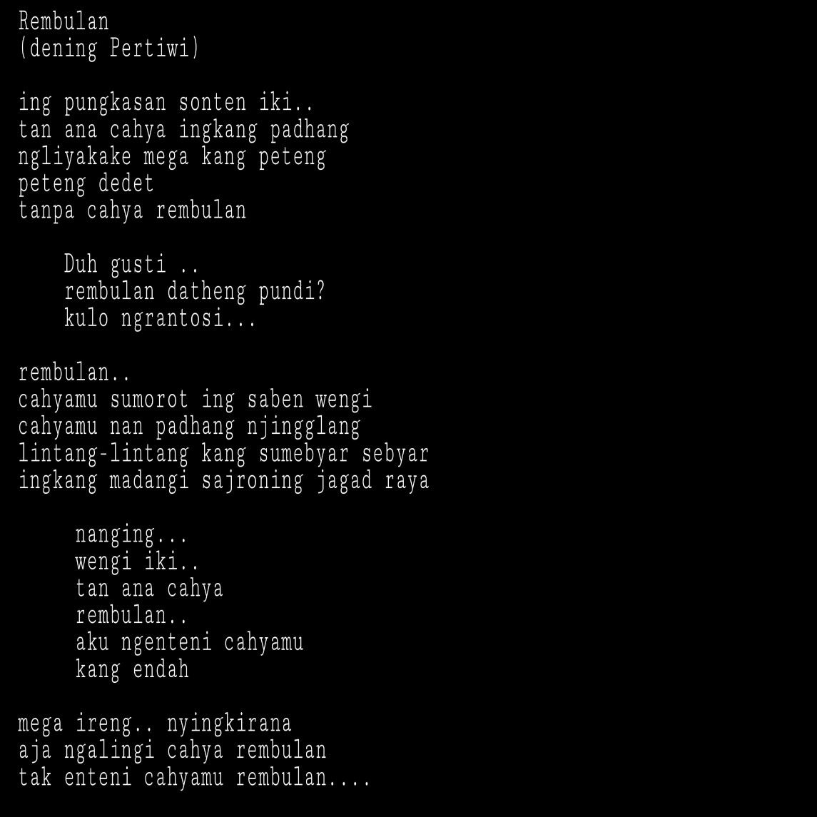 Contoh Drama Bahasa Jawa