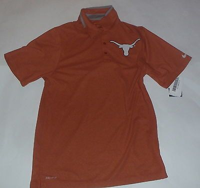 Texas Longhorns Nike Dri-Fit Orange Players Sideline Mens Polo Shirt