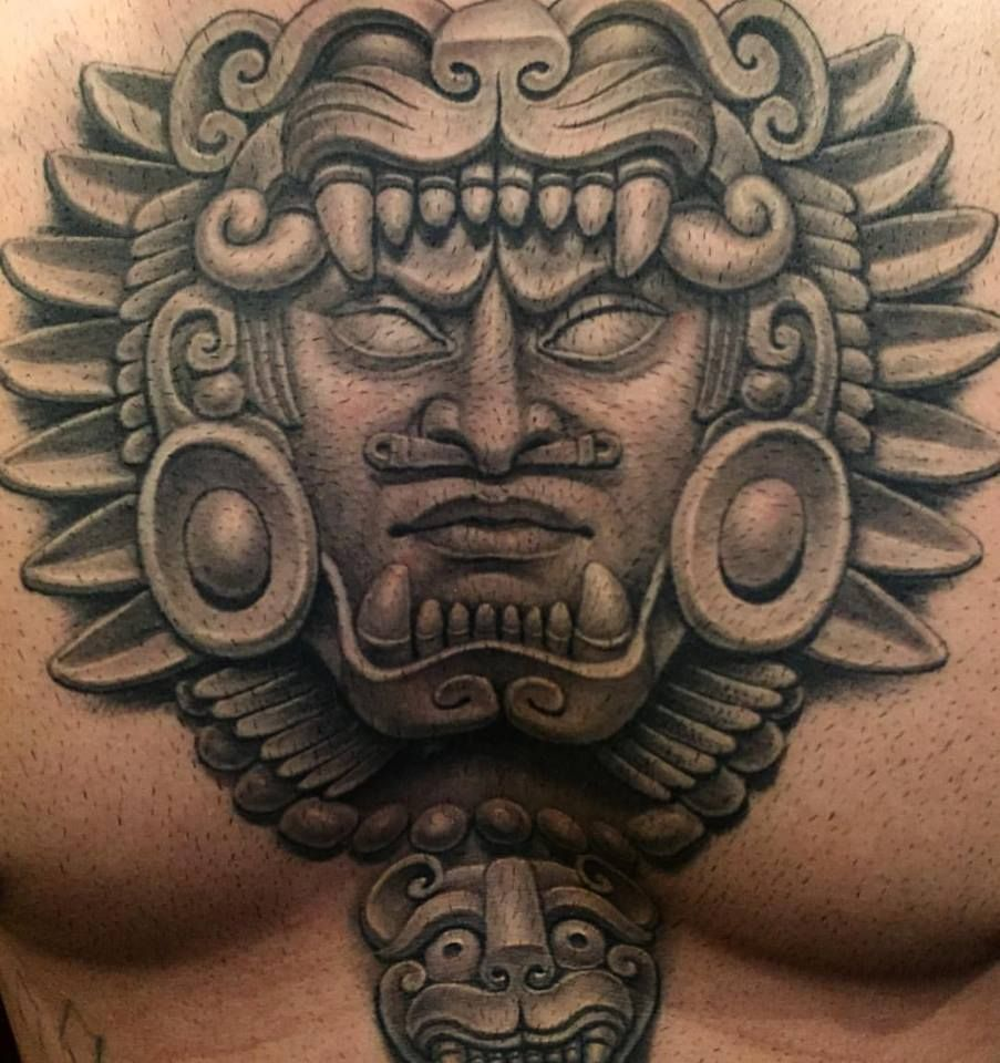 dd464e40e4fae Pin by Michael Muñoz on Tattoo Stuff | Mayan tattoos, Aztec warrior ...
