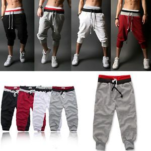 Men/'s Shorts Casual Pants Trousers Sport Jogger Slim Jogging Solid High waist