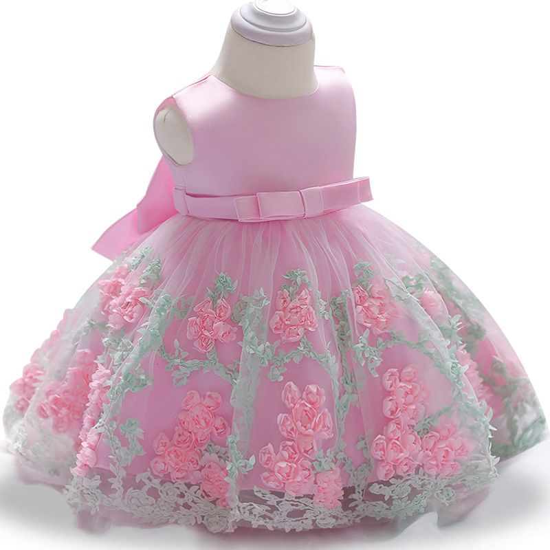 109553098285c Party wear colors with flowers and leaves girls dress | Clothing ...