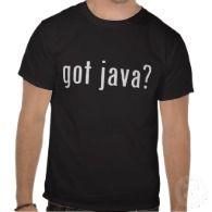 got java? t-shirts