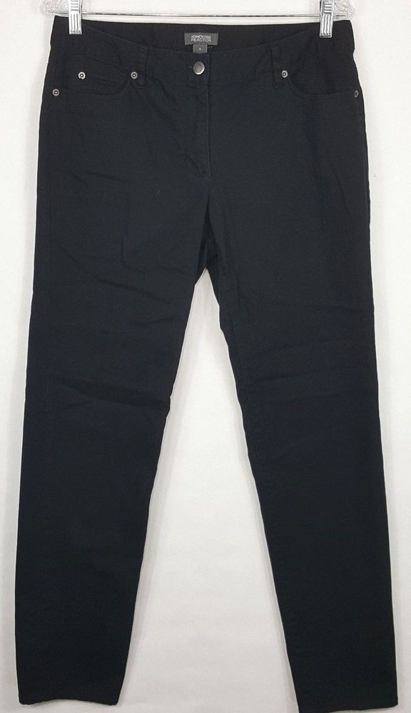 Kenneth Cole Women s Black Stretch Jeans Size 10  KennethCole  Zipper 211dc9a4a