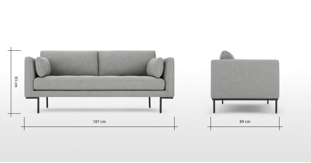 MADE Sofa, Grau in 2019 2 sitzer sofa, Möbel sofa und Sofa