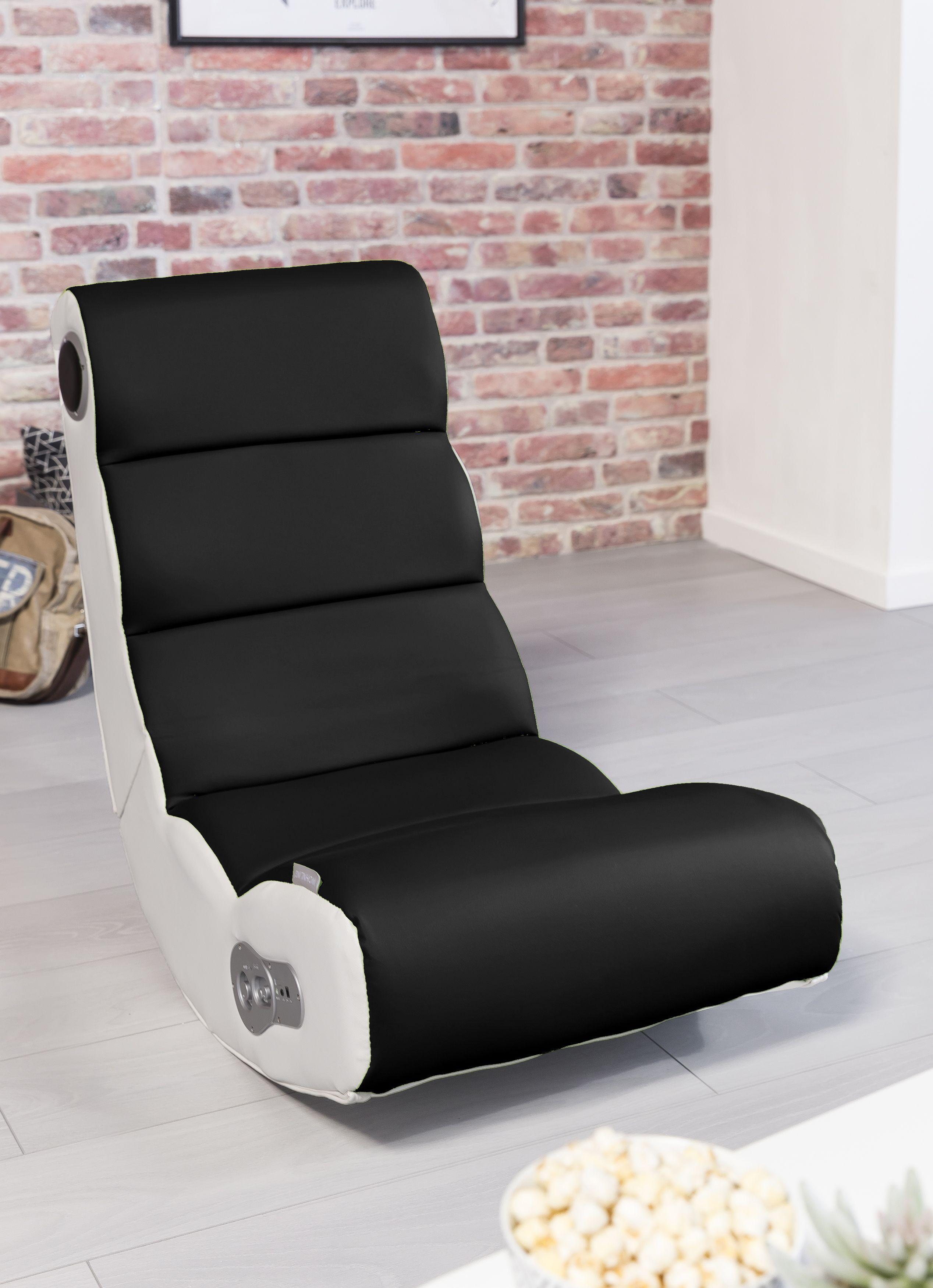 Wohnling Wooble Soundchair Schwarz Mit Bluetooth Wl8 016 Aus Kunstleder Wohnzimmer Gaming Sessel Spielen Kinderzimmer Relaxsessel Sessel Relaxsessel Musik