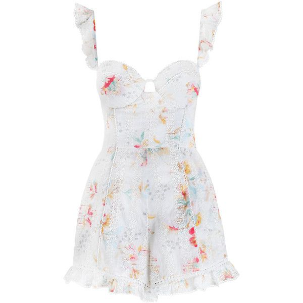 e2d5e4e74860 ZIMMERMANN Belle Bustier Playsuit ( 480) ❤ liked on Polyvore featuring  jumpsuits