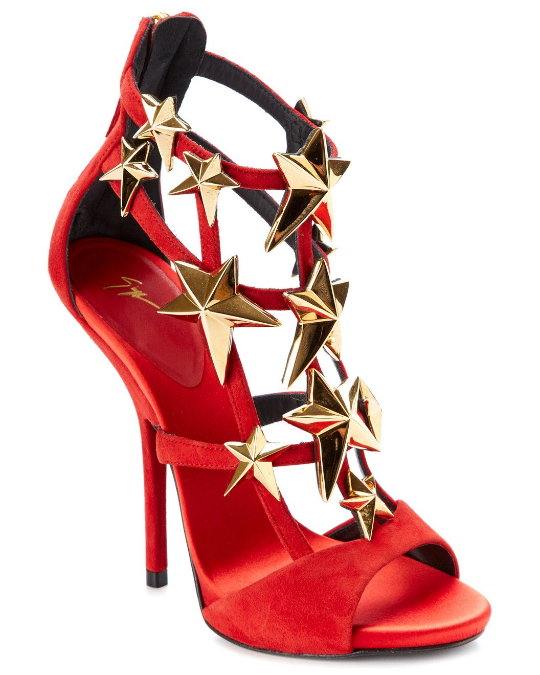 Spotted this Giuseppe Zanotti Star-Embellished Suede Sandal on Rue La La. Shop (quickly!).