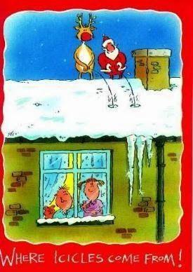 Hilarious Christmas Santa Reindeer Cartoon Picture