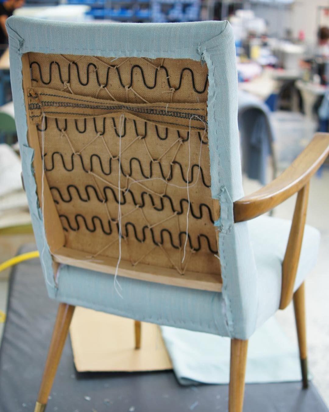 Work In Progess Sessel Mit Stoff Neu Beziehen Sessel Armchair