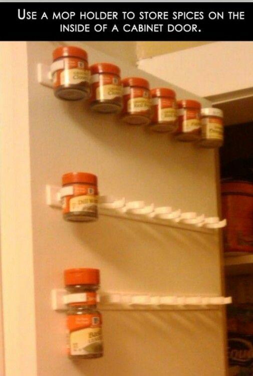 .Spice rack in door