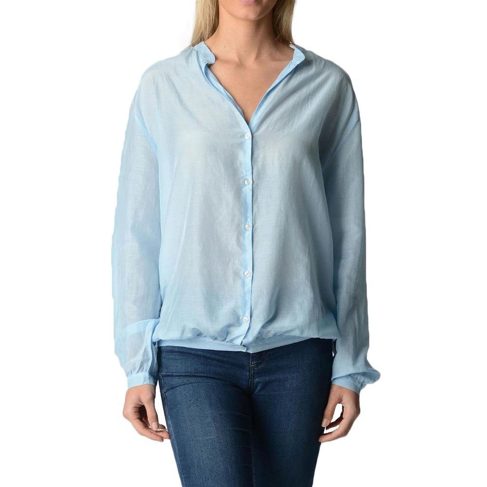 Light Blue S Fred Perry Womens Blouse 31202501 7045