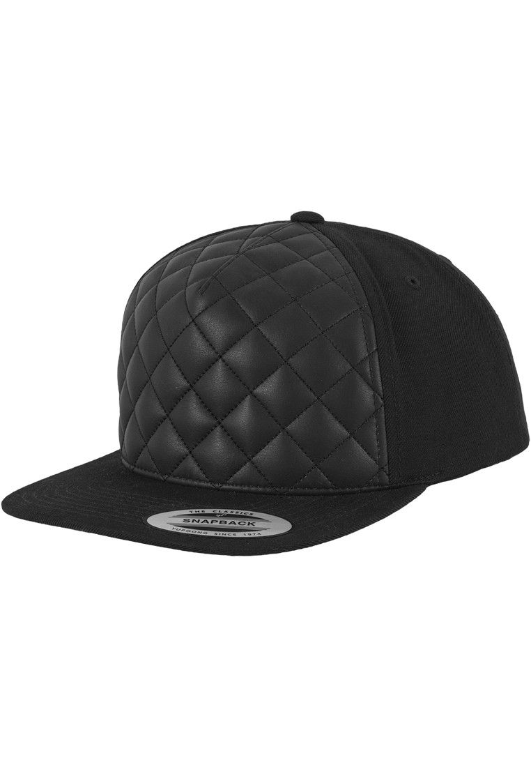1ac41e5f781 Diamond quilted snapback