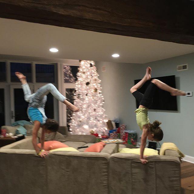 Christmas Eve handstands. # # @presshandstands | Bratayley ...
