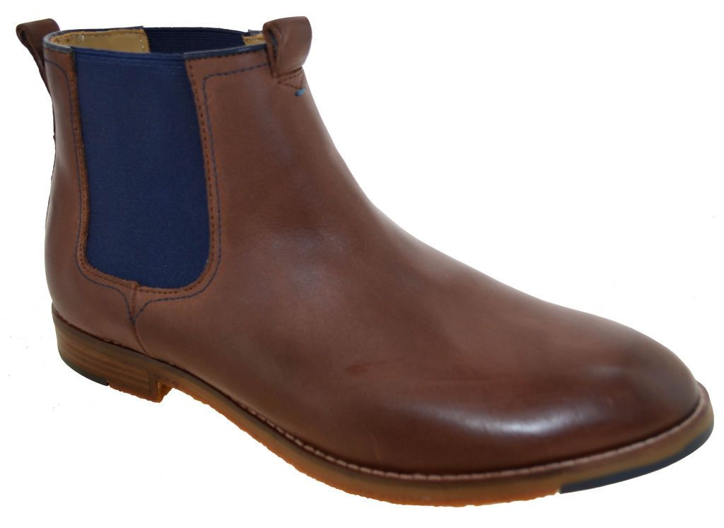 Hush puppies mens thor hamlin chelsea boots brown style
