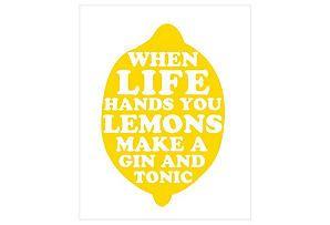 Kitchen art? One Kings Lane - Statement Pieces - When Life Hands You Lemons Print