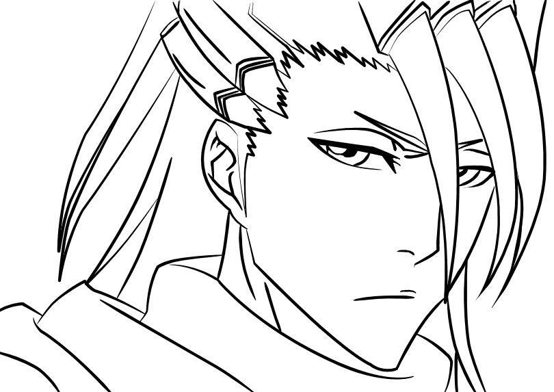 Byakuya Anime Lineart Bleach Art Bleach Drawing