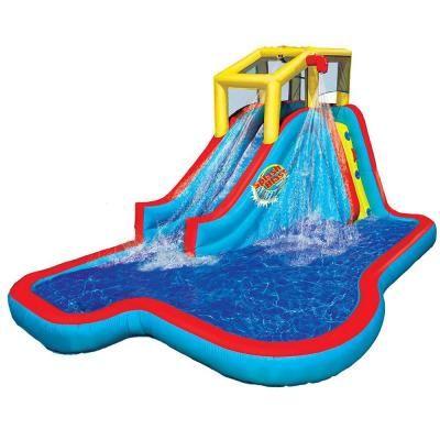 Banzai Slide N Soak Splash Park Inflatable Outdoor Kids Water Park Play Center Multicolored In 2020 Kids Water Slide Inflatable Water Park Backyard Water Parks