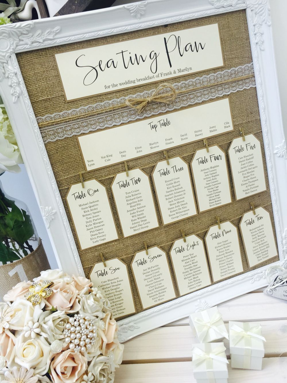 Rustic table plan from The Vow Sheffield. | For a beautiful wedding ...