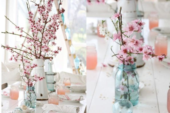 Cherry Blossom Wedding 1 Spring Table Decor Spring Decor Spring Table
