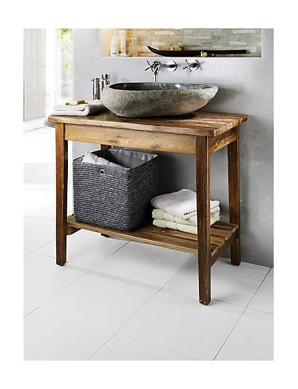 Waschbecken aus antürlichem Fluss-Stein Gäste WC Pinterest - badezimmerm bel set holz