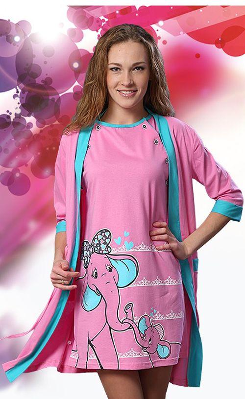 ad556b2da791 Комплект (халат+сорочка) для беременных и кормящих мам 9 | Халаты ...