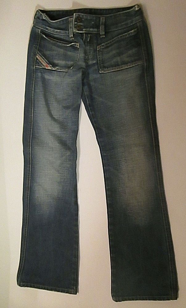 e19f7669b83 DIESEL Jeans VINTAGE Finish WOMEN SIZE 26 RN93243 CA25594 Made in Italy EUC  #DIESEL #BootCut