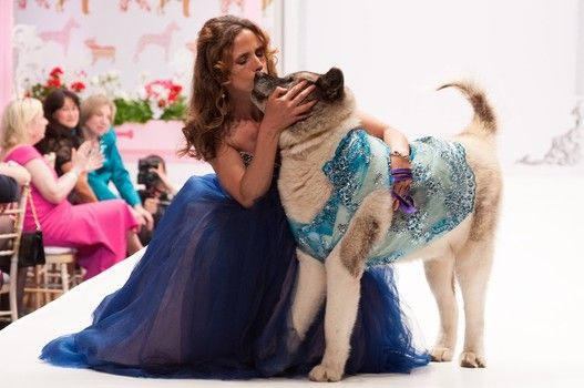 Kirsten Stade and Genghis at Fashion for Paws® runway show that raised some $400,000 for the Washington Humane Society on May 2.