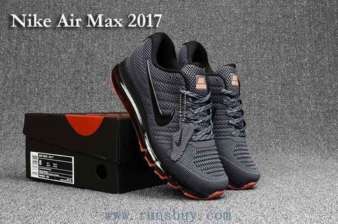 best quality 2fd6b 4bce0 New Nike Air Max 2017 Carbon Grey Mens Shoes