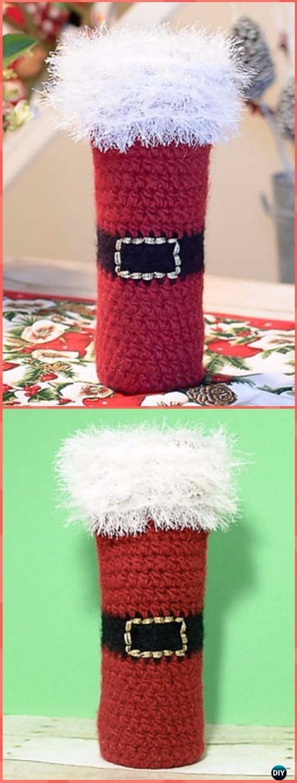 Crochet Wine Bottle Cozy Bag Sack Free Patterns Wine Bag Pattern Bottle Cozies Christmas Crochet