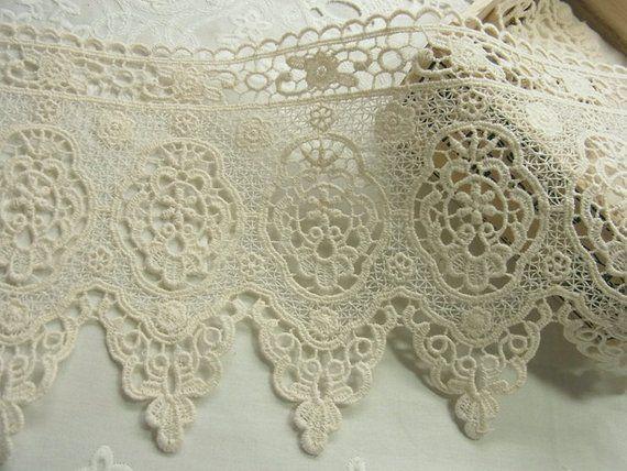 1 yard stile Vintage cotone Crochet Lace Trim - bel fiore #2606 #dollunderware