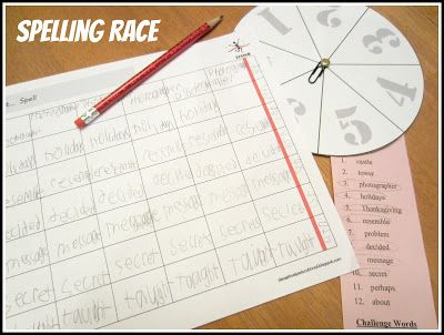 Relentlessly Fun, Deceptively Educational Spelling Race - lined paper in word