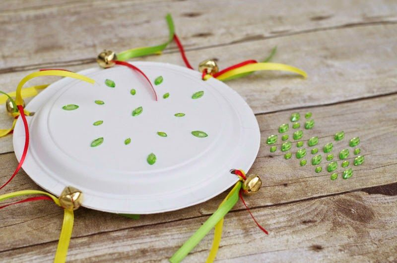tambourine made with plastic plates step by step city crafts