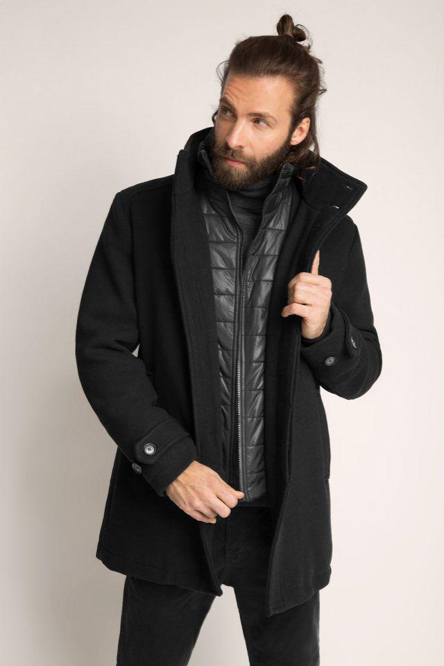 ESPRIT Herrenmantel aus Woll-Mix. Dieses Jahr ist die Zeit endlich reif für  einen stylischen Wintermantel! ESPRIT liefert eine gelungene Mischung aus  ... c028db7538