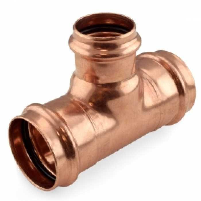 2 X 2 X 1 1 2 Press Copper Tee Hydronic Heating Water Plumbing Inert Gas