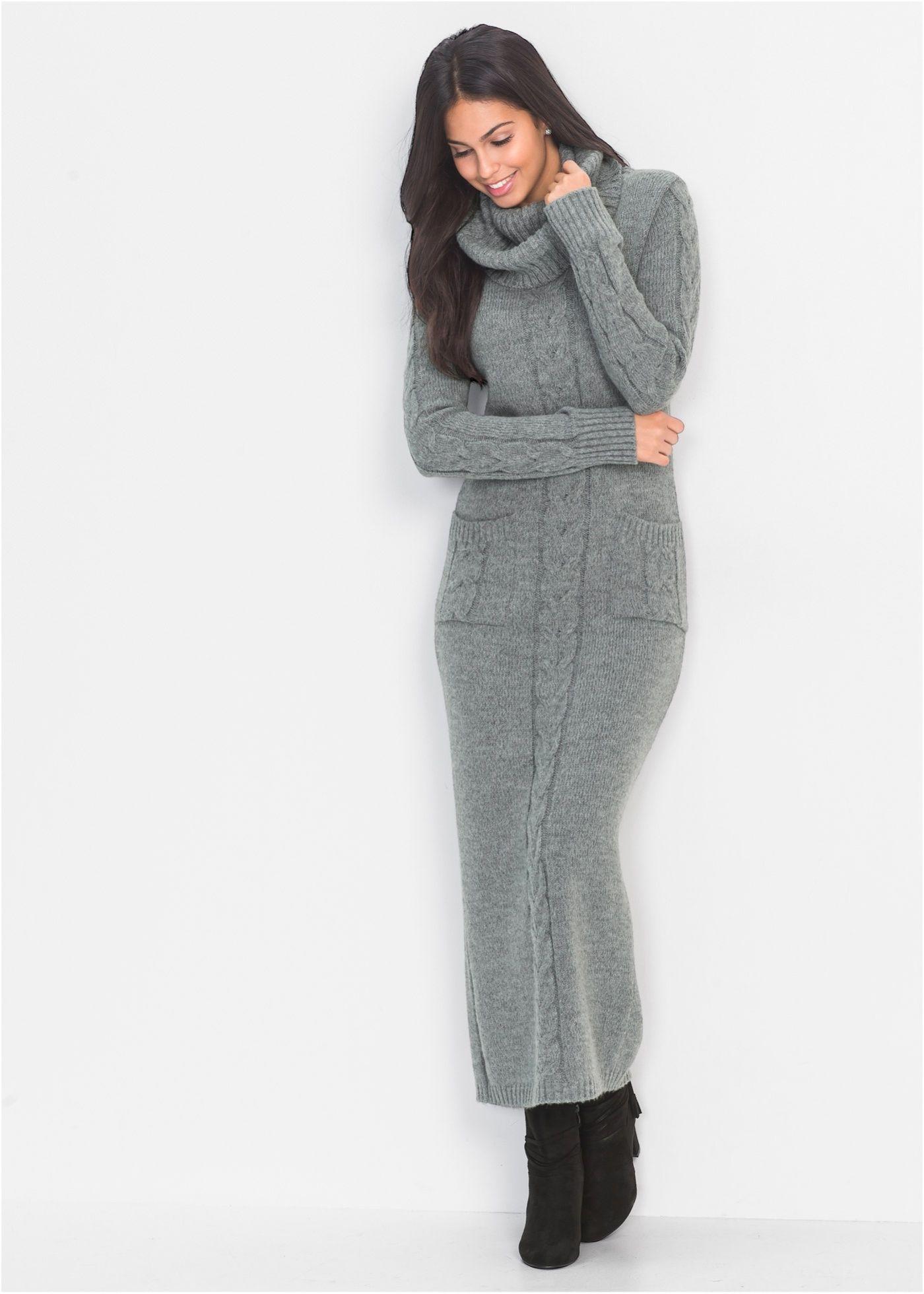 90e31485405763 Gebreide jurk grijs gemêleerd nu in de onlineshop van bonprix.nl vanaf   39.99  bestellen