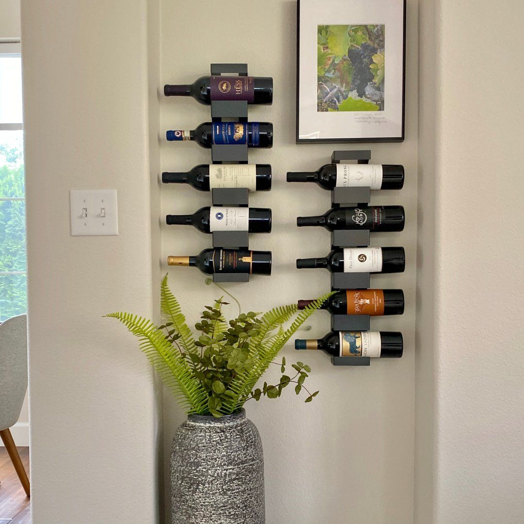 Dorsey Wine Rack Modern Living Room, Wine Rack Ideas Living Room