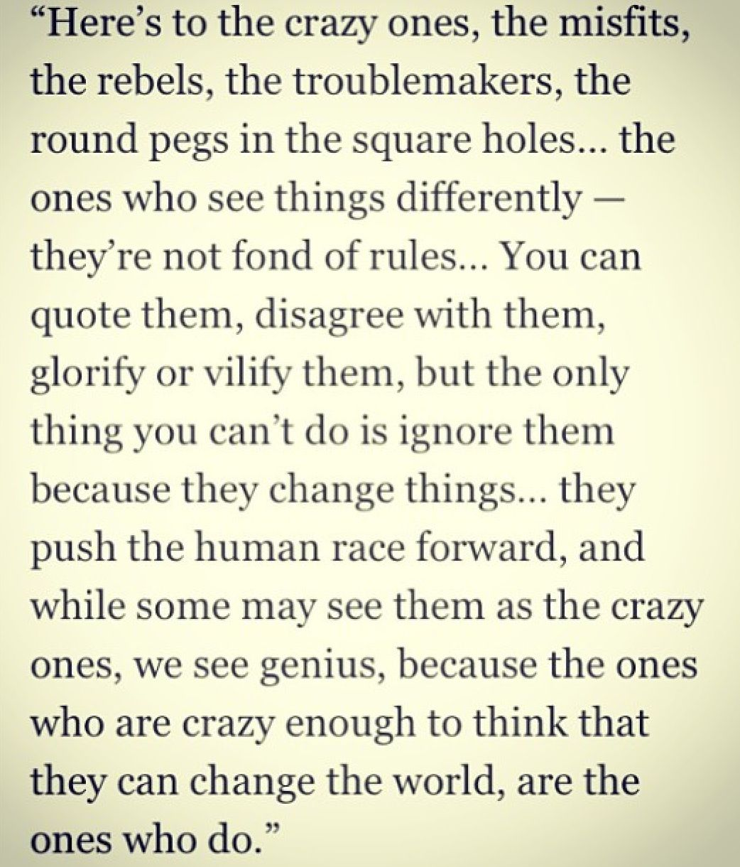 My New Favorite Quote Heres To The Outcasts And Rebels Outcast