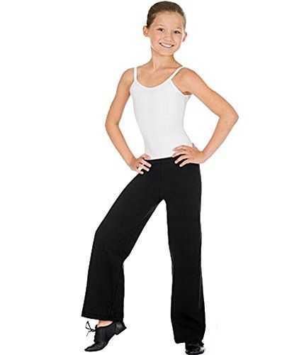 22474a7d9eaa93 Eurotard Child Microfiber Jazz Pants 44555c -BLACK L | Girls ...