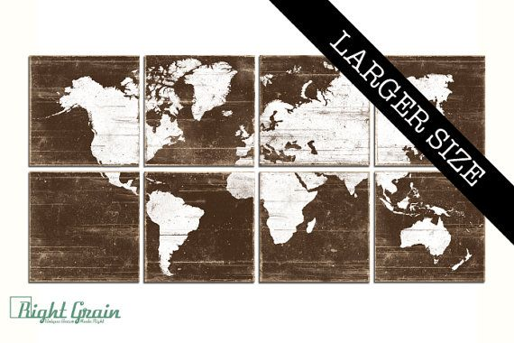 Extra large distressed world map print collection vintage rustic extra large distressed world map print collection vintage rustic wall art gumiabroncs Image collections