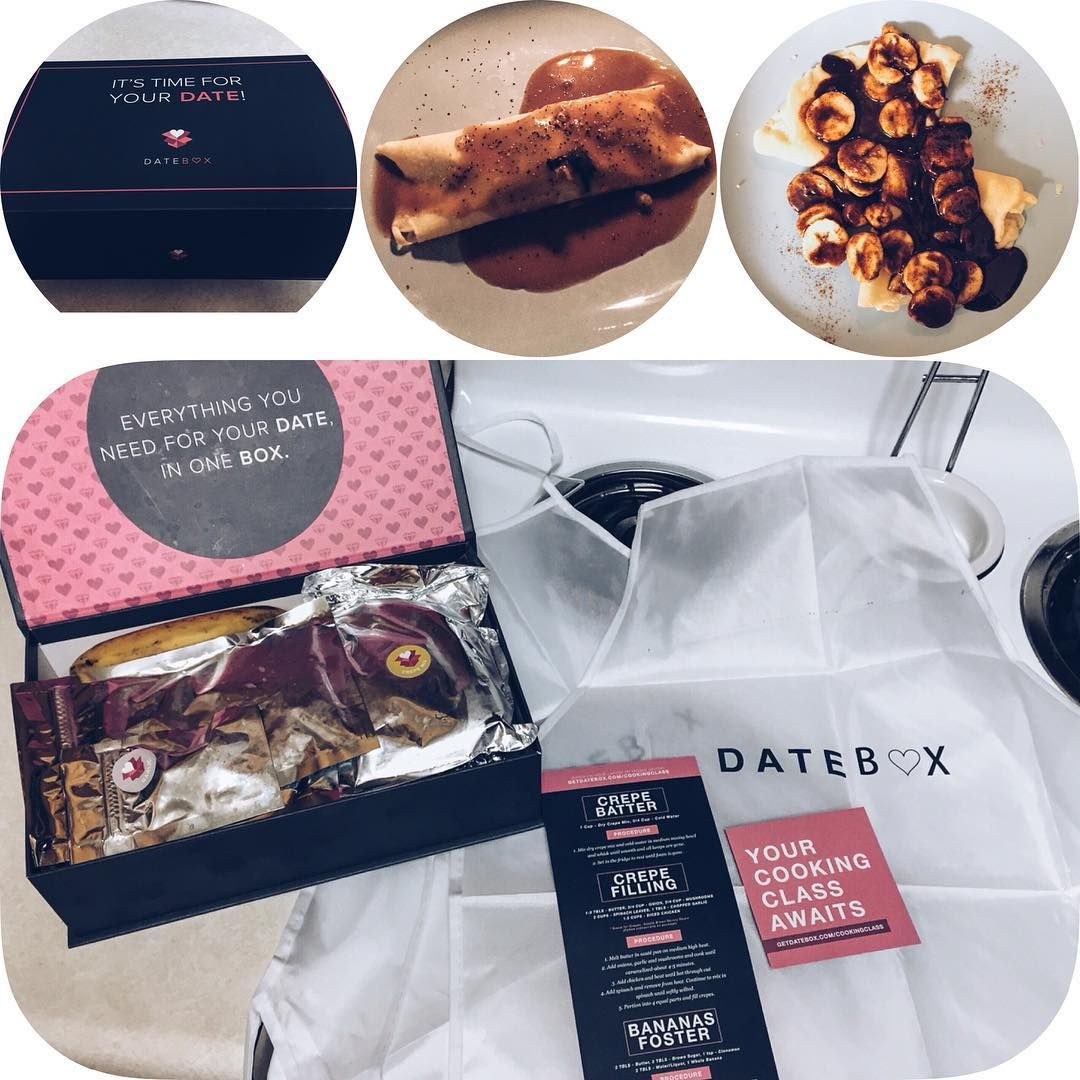 Creative date nights have always been something I've loved & when I heard about this company that sends a date in a box every month--Scott & I were so excited! This month's date was a cooking class where they sent everything and we watched a chef teach us what to do. We made savory crepes for dinner and bananas foster for dessert. Plus they sent us blank cards that we wrote love notes on and they will mail them back to us in a few months for a surprise! Their message is something everyone…