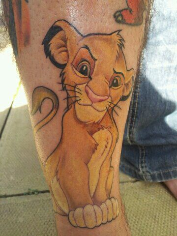 ee7634f8909a8 Done by the incredibly talented Toni Moore of Broad Street Tattoo in Bath,  UK My Lion King tribute, Simba :D