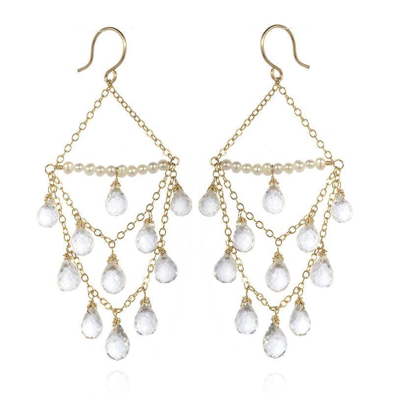 Faceted rock crystal chandelier earrings artisan design gallery faceted rock crystal chandelier earrings artisan design gallery aloadofball Choice Image