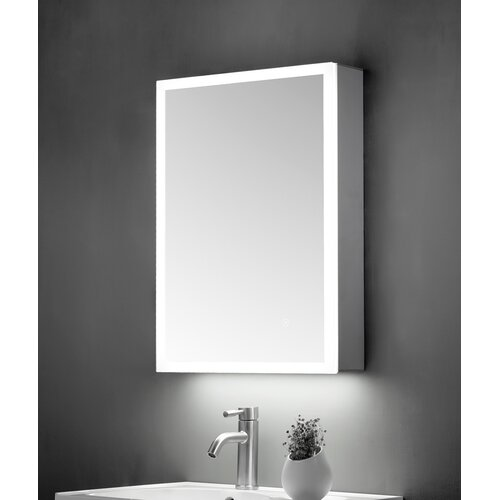 Critchlow 50cm X 70cm Wall Mounted Mirror Cabinet With Led