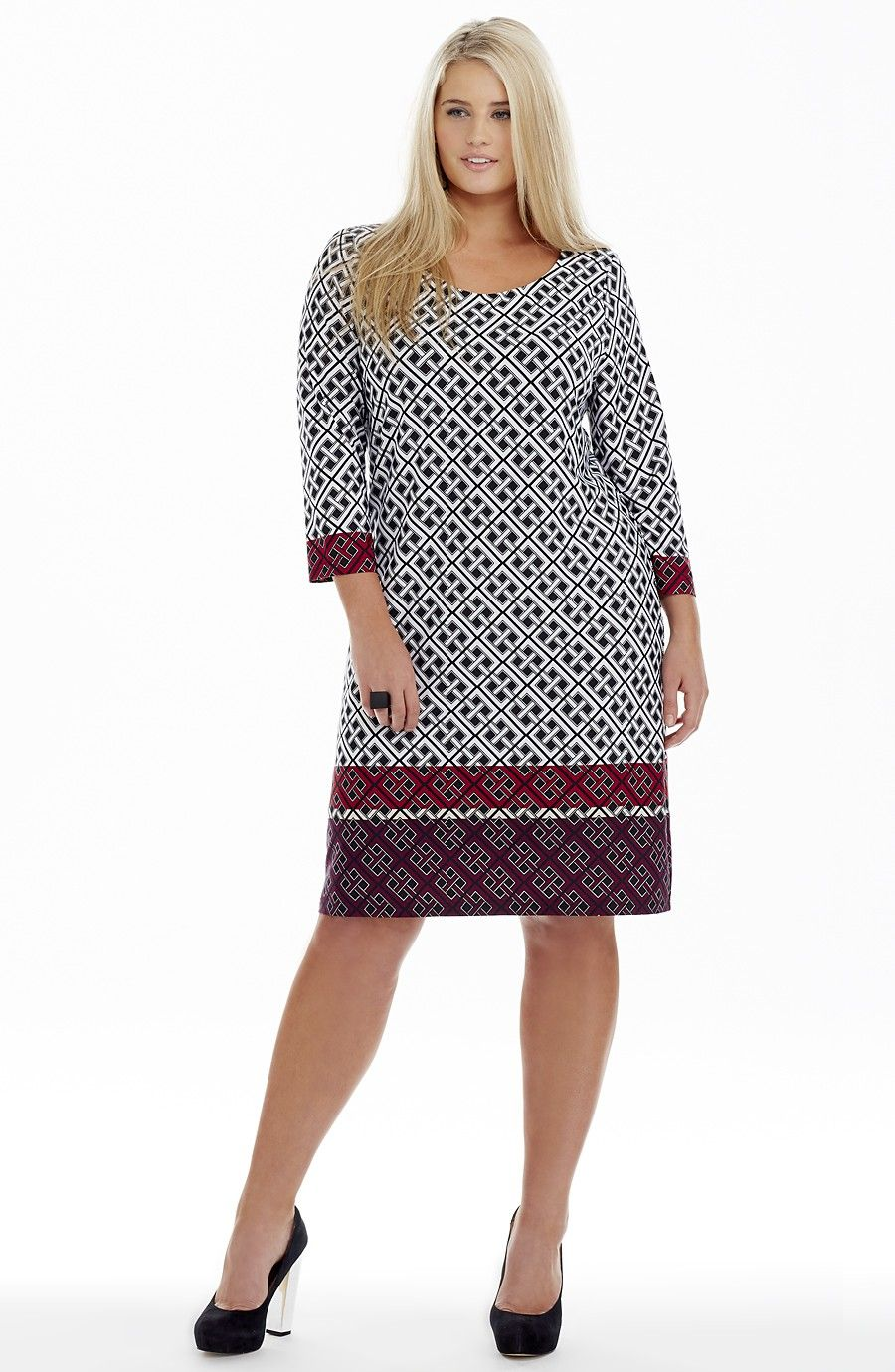 143cac1a382 Geometric Pattern Shift Dress
