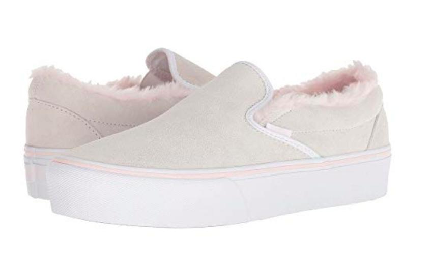 Vans Women Classic Slip On Platform Suede Sneakers, True