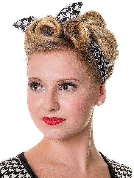 banned dogtooth haarband 50s inspired fashion pinterest frisur 50er und 60er style. Black Bedroom Furniture Sets. Home Design Ideas